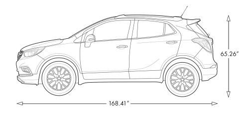 small resolution of diagram image showing the height and length of the 2019 buick encore small luxury suv