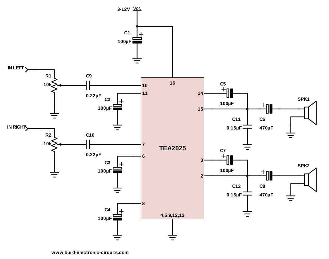 C11 Pc Wiring Diagram The Simplest Audio Amplifier Circuit Diagram
