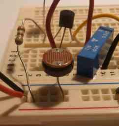 light dependent resistor on a bradboard [ 1024 x 768 Pixel ]