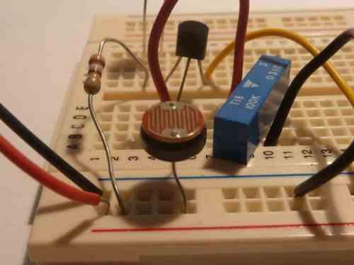 small resolution of light dependent resistor on a bradboard