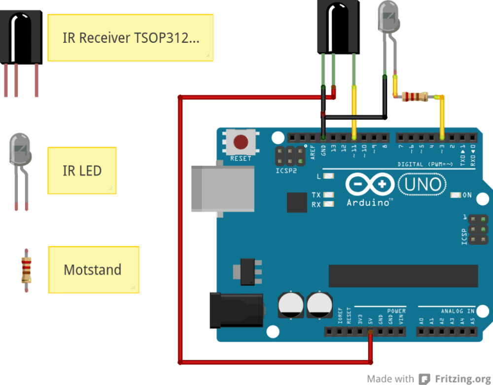 medium resolution of arduino remote control connection diagram