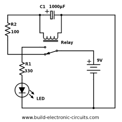 How To Make A Circuit Diagram 1989 Honda Civic Fuse Box Led Flasher Wiring All Data Blinking With Schematics And Explanation Light Using Relay