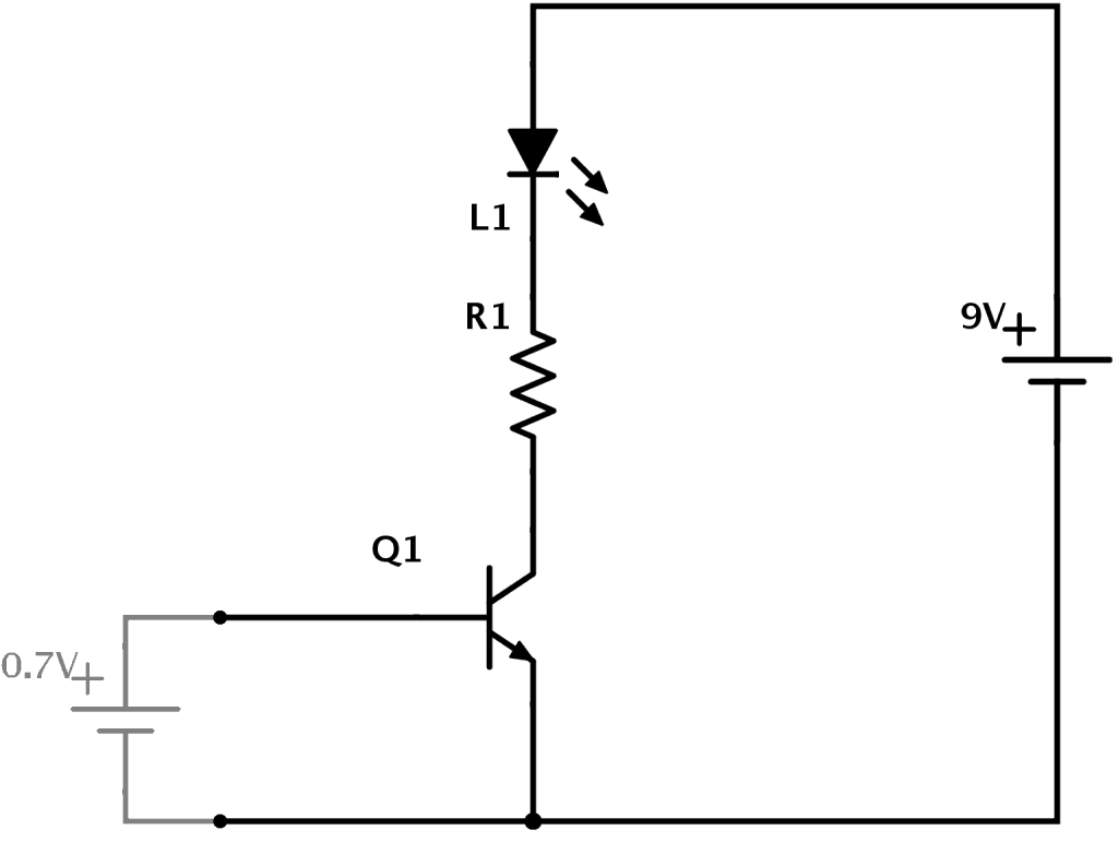 hight resolution of how a transistor works in a circuit