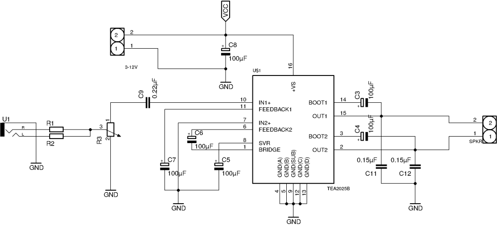 medium resolution of mono amplifier circuit diagram