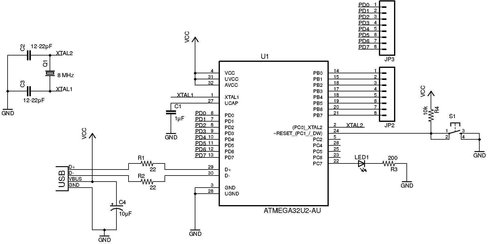 hight resolution of atmega32u2 atmel bits pieces