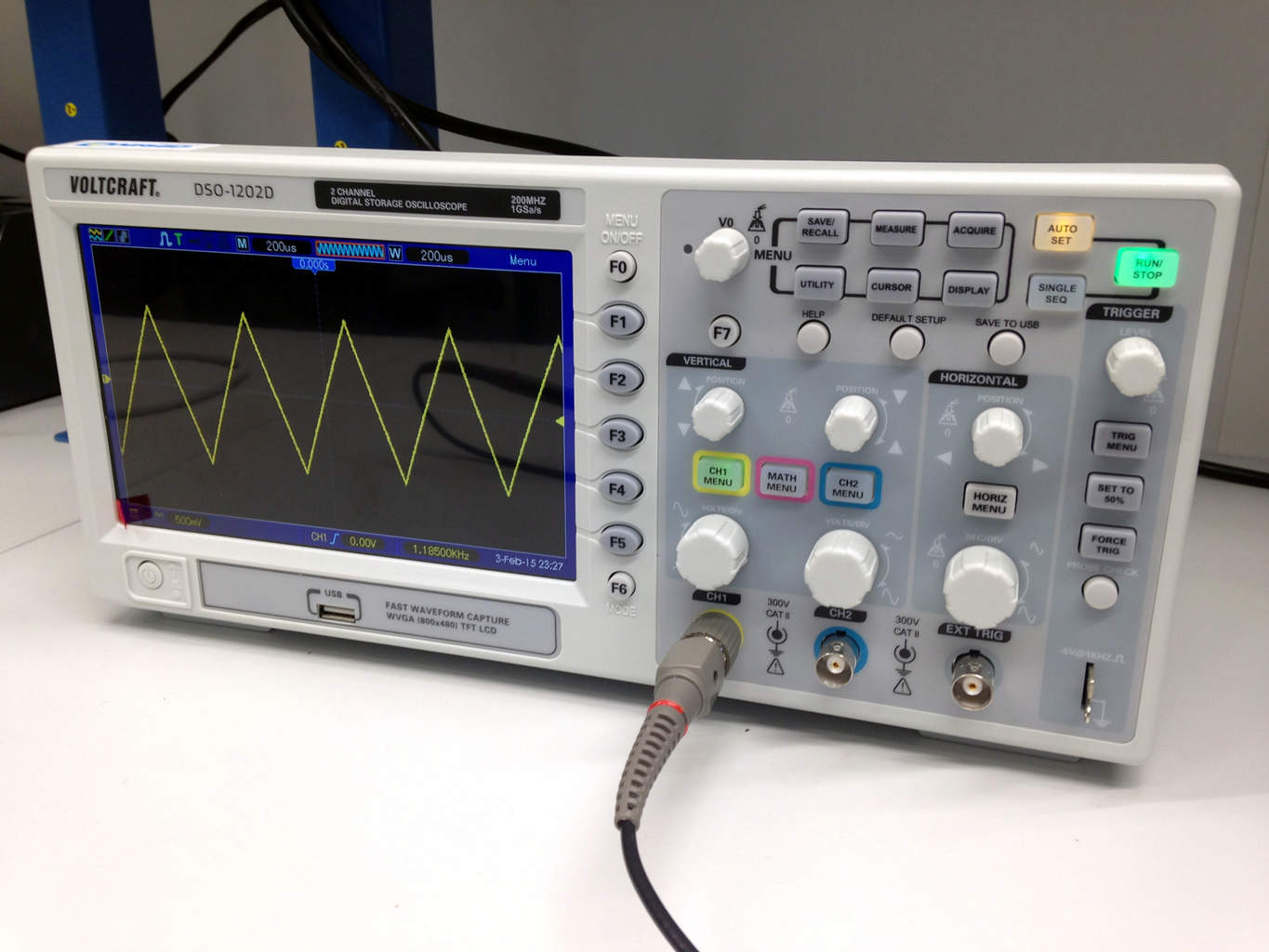 hight resolution of how to use an oscilloscope