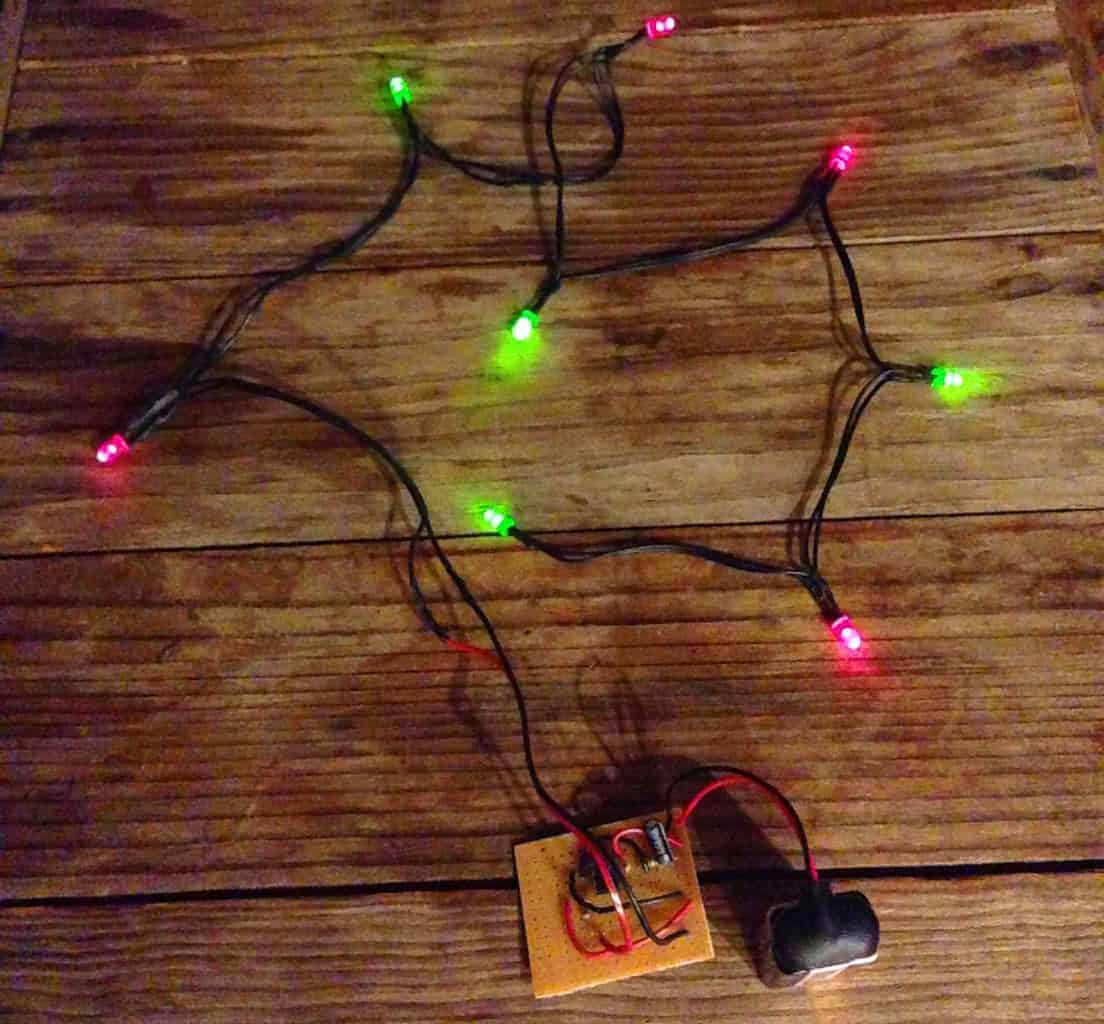 wiring diagram for christmas lights club car golf cart 4 battery blinking build electronic circuits
