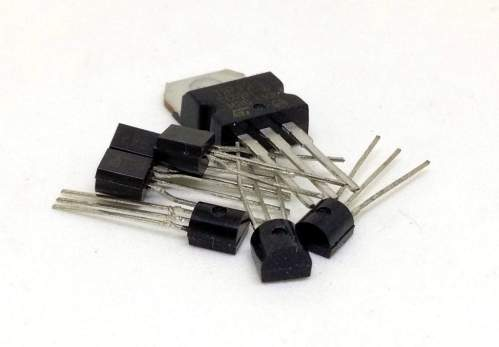 small resolution of a pile of various transistors