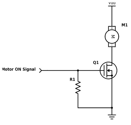 small resolution of simple mosfet motor driver circuit