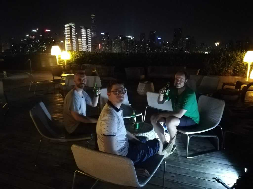 Sitting on shenzhen rooftop