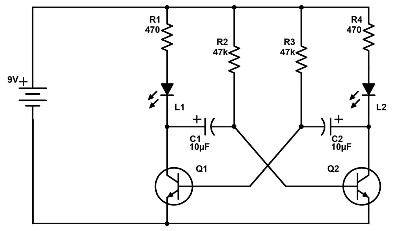 hight resolution of astable multivibrator circuit
