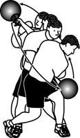Medicine Ball Exercises: Diagonal Chop