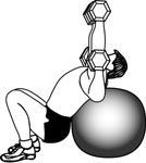 Stability Ball Exercises: Incline Dumbbell Press