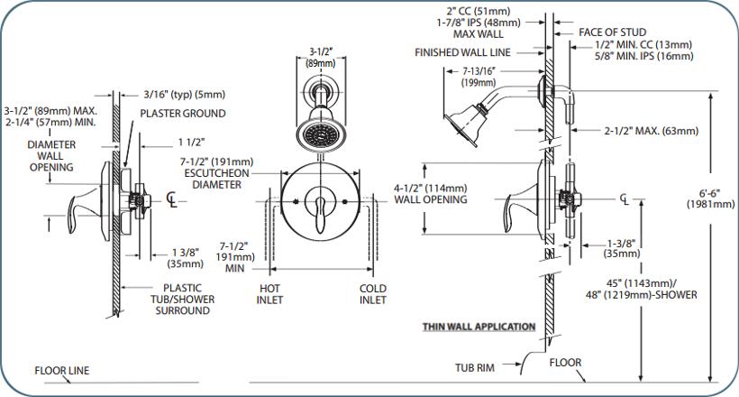 Moen T2132 Chrome Single Handle Posi-Temp Pressure