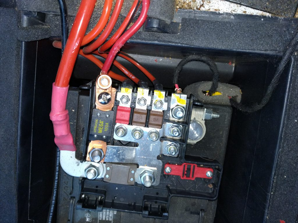 hight resolution of connection to van battery