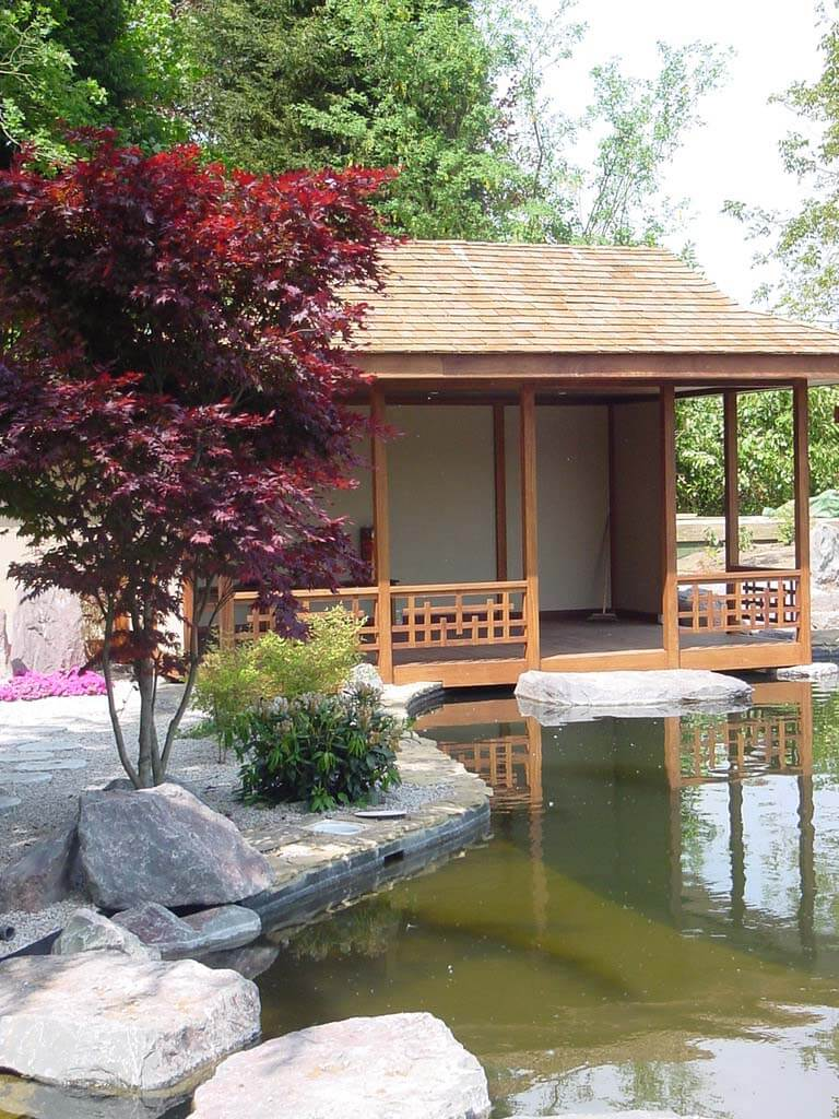 Build Japanese Garden Tea House