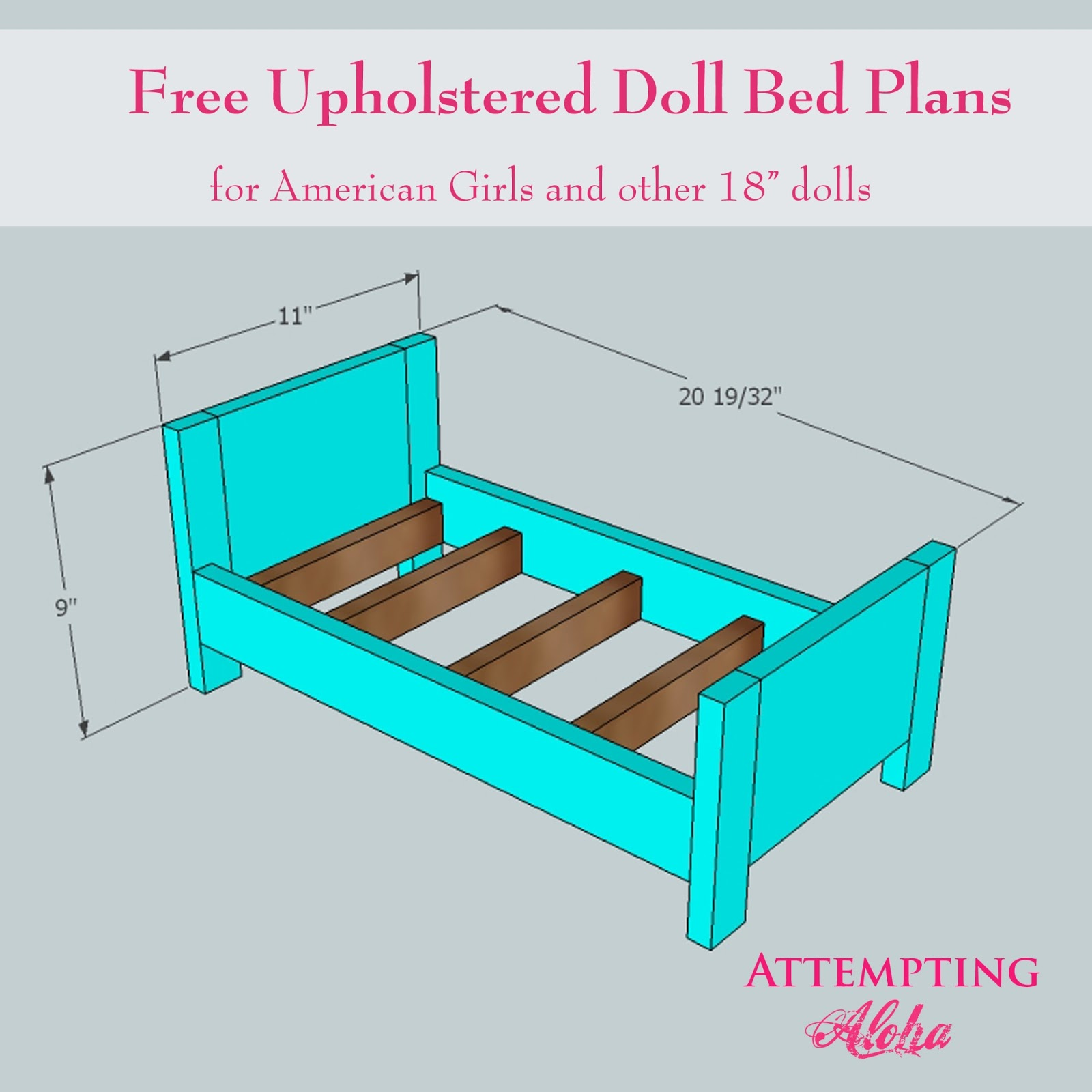 Upholstered American Girls Doll Bed Plans