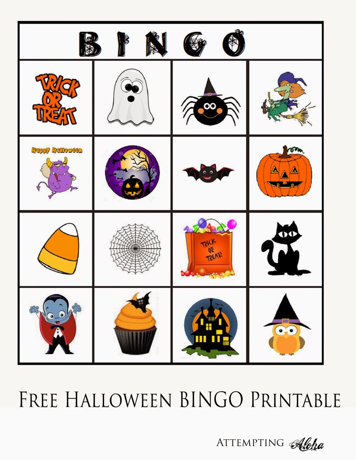 Free Halloween Bingo Printable For Little Kids