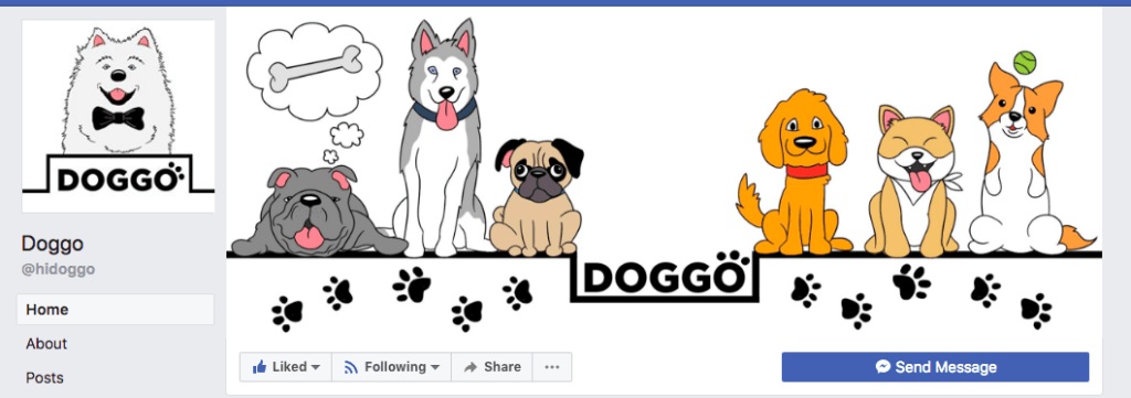 Doggo Facebook page