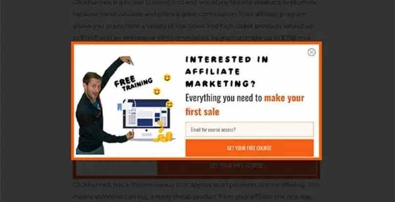 affiliate marketing popup