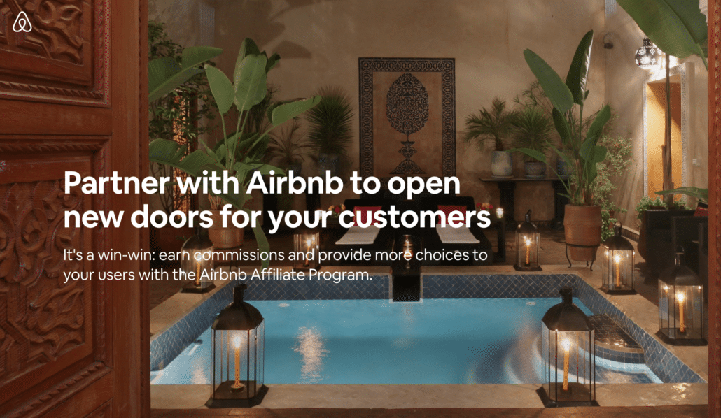 Airbnb Affiliate marketing examples