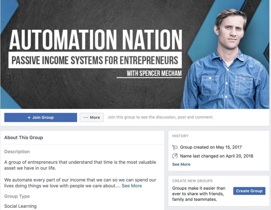 How to start affiliate marketing Facebook Group