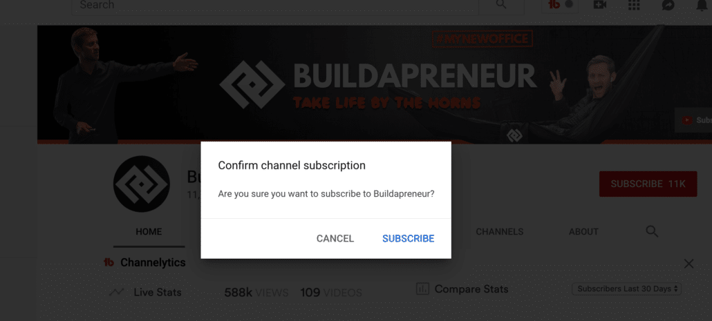 YouTube Subscribe Popup