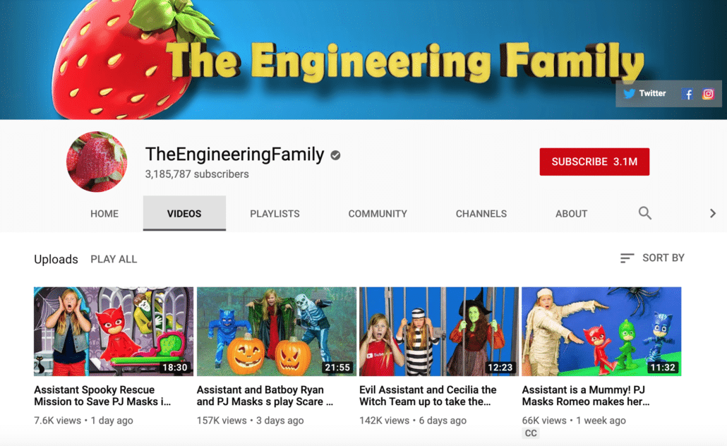 YouTube Kids Channel Example 3
