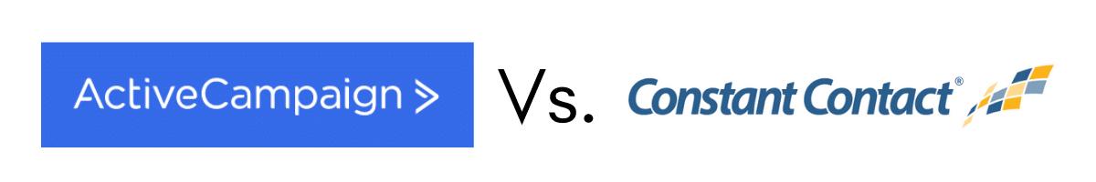 ActiveCampaign vs Constant Contact Logo Graphic