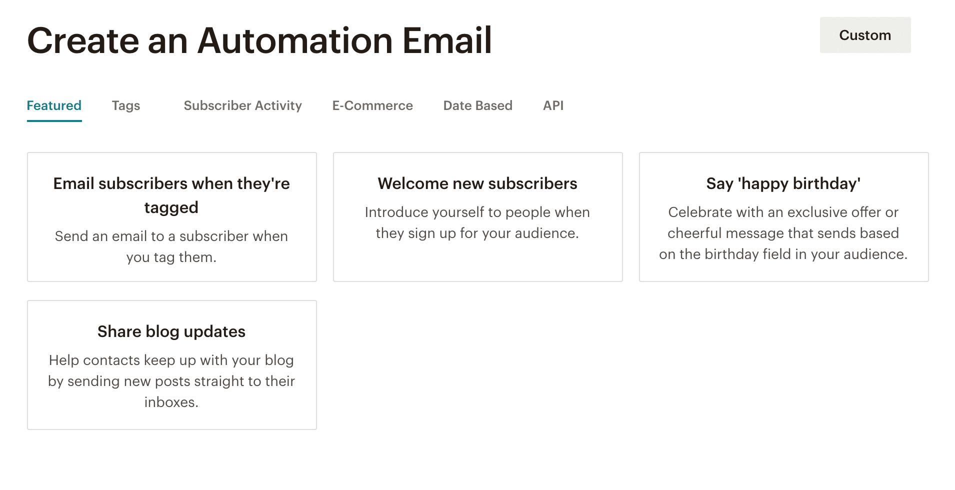 Mailchimp alternatives automations