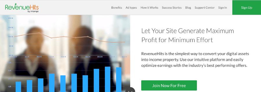 RevenueHits Pay per click affiliate programs