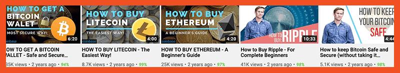 promote crypto on youtube