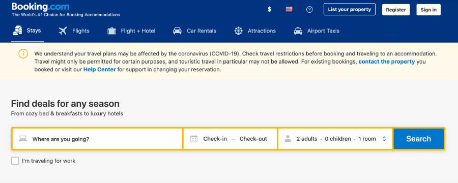 Booking.com travel affiliate programs
