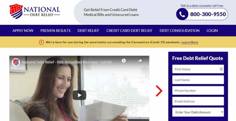 pay per lead affiliate marketing - National Debt Relief