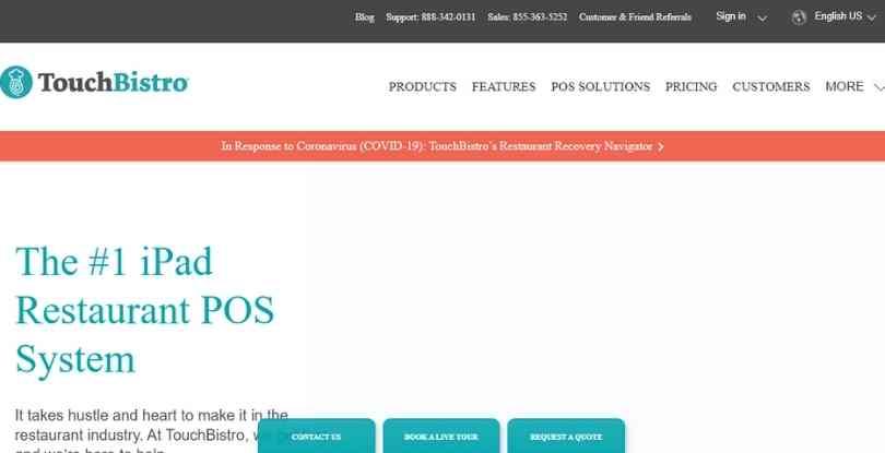 pay per lead affiliate programs - Touchbistro