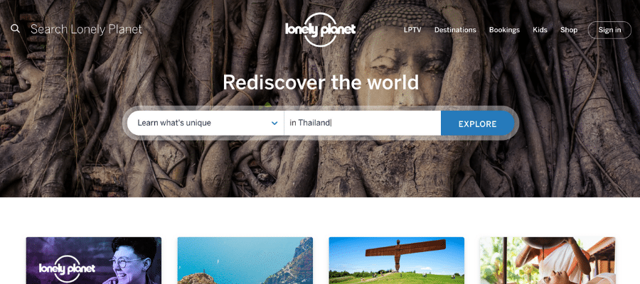 Lonely Planet travel affiliate programs