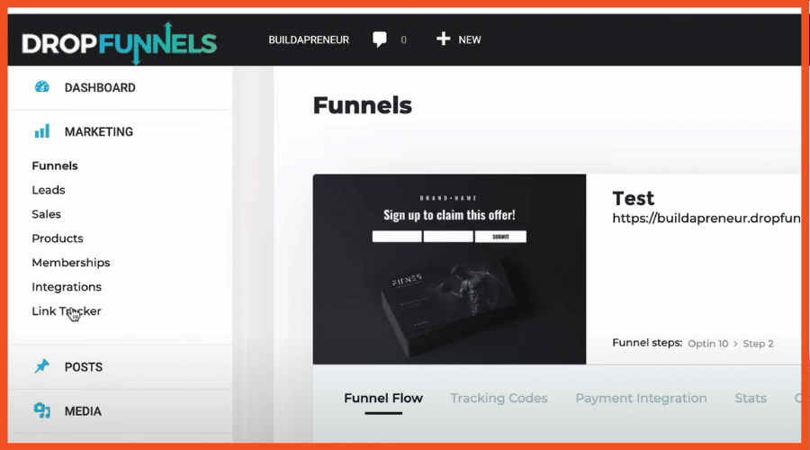 DropFunnels Dashboard