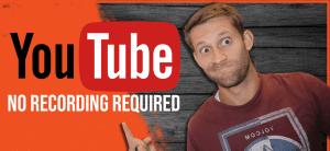 YouTube money no recording
