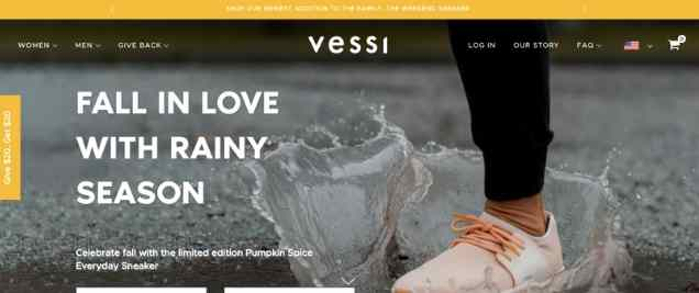 Vessi Footwear Vegan Affiliate Program