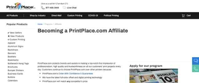 Print Place Affiliate Program