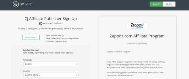 Zappos Affiliate Program