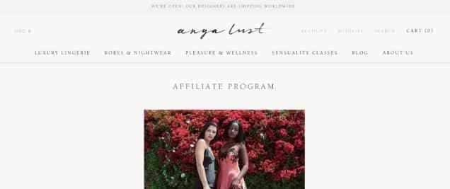 Anaya Lust Affiliate Program
