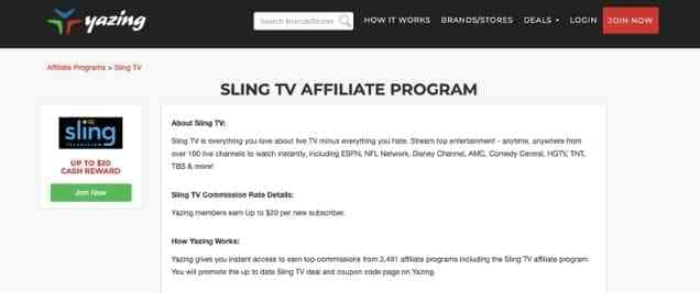 Sling TV Affiliate Program