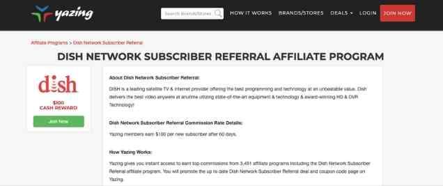 Dish Network Affiliate Program