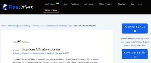 LuxChoiceAffiliate Program