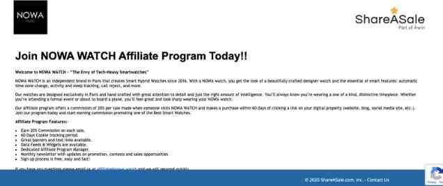 NowaAffiliate Program