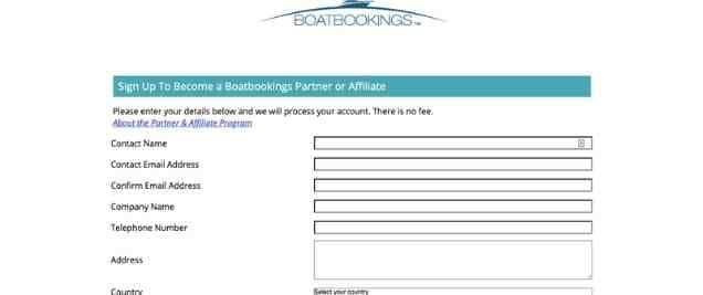 Boatbooking Affiliate Program