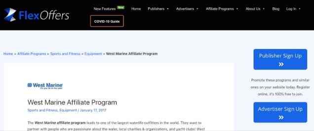 West Marine Affiliate Program
