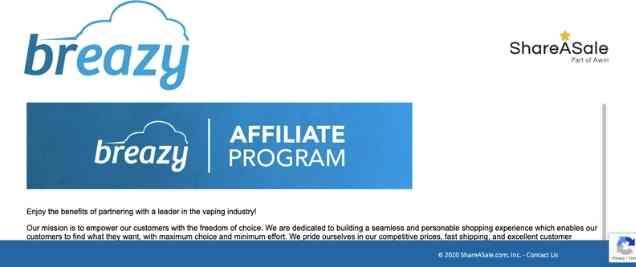 Breazy Affiliate Program