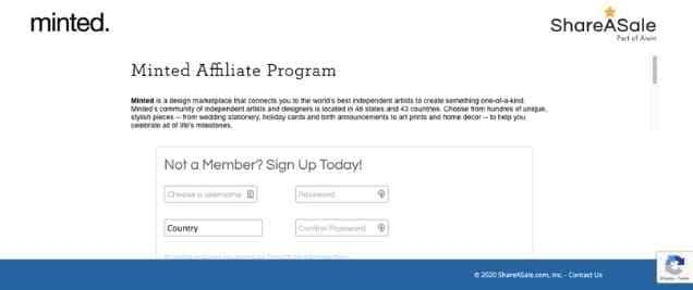MintedAffiliate Program